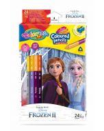 Colorino Disney Frozen II Триъгълни цветни моливи  12 бр. /24 цвята (с острилка)