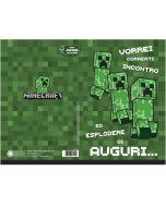 Картичка Minecraft Creeper