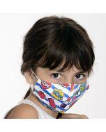Двуслойна детска маска Fun с метален стек 6-12 г
