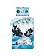 Бебешки спален комплект Как да си дресираш дракон 100x135 см