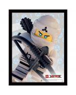 Картина Lego Ninjago movie Zane в остъклена рамка