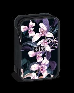 Несесер с един цип на две нива Ars Una Botanic Orchid