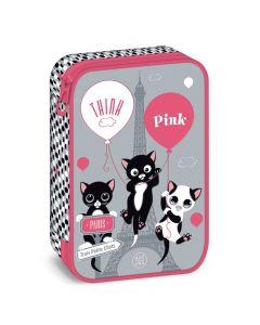 Think Pink 20 несесер с един цип на две нива