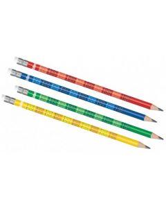 Colorino Kids черен молив с таблицата за умножение