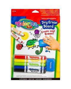 Colorino Kids бяла дъска за рисуване комплект