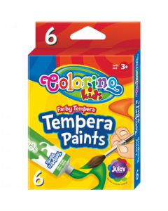 Colorino Kids темперни бои 6 цвята в туби