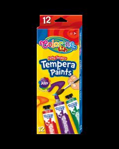 Colorino Kids темперни бои 12 цвята в туби