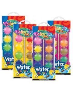 Colorino Kids акварелни бои 12 цвята малка кутия