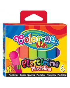 Colorino Kids пластилин 6 цвята НЕОН