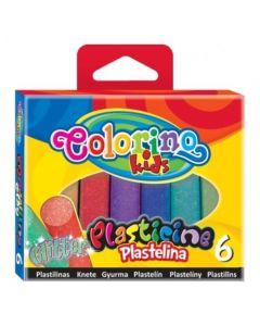 Colorino Kids пластилин 6 цвята с БРОКАТ