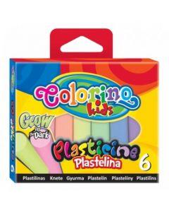 Colorino Kids пластилин 6 цвята СВЕТЕЩИ