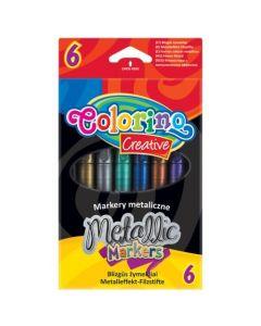 Маркери 6 цвята Металик