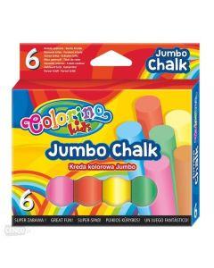 Colorino цветни тебешири 6 цвята Jumbo