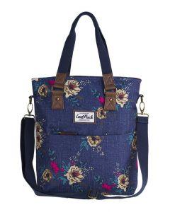 Amber Чанта за рамо Blue Denim Flowers