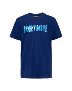 Тениска Fortnite с надпис, тъмно синя