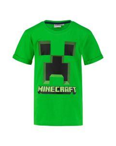 Тениска Minecraft Creeper зелена