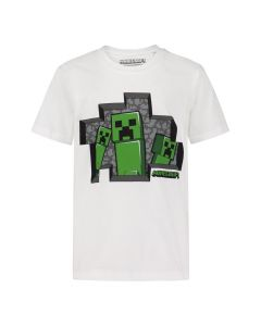 Тениска Minecraft Creepers White