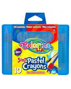 Акварелни пастели 10 цвята в кутия