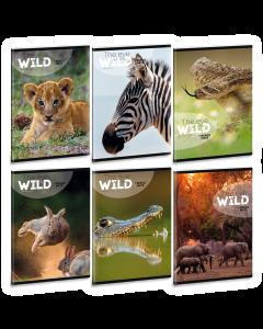 Ученическа тетрадка A5, 40 листа ARS UNA The eyes of the wild - Различни видове