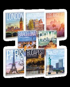 Ученическа тетрадка A5, 40 листа ARS UNA Cities of the world