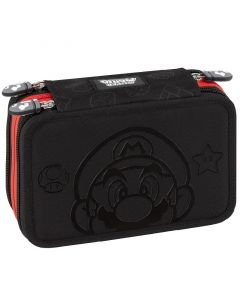 Ученически несесер Super Mario със съдържание черен