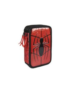 Ученически несесер с 3 ципа и пособия Spiderman