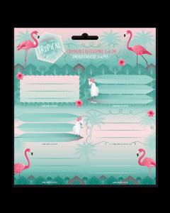 Pink flamingo ученически етикети