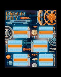Omega city ученически етикети