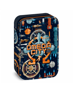 Omega city несесер с един цип на две нива