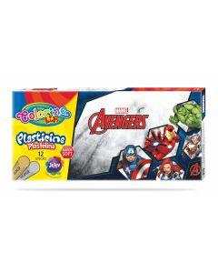 Colorino Marvel Avengers Пластилин 12 цв.+ златно и сребърно