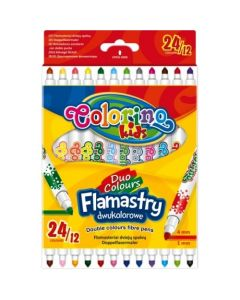 Флумастери двувръхи 12 бр. 24 цвята