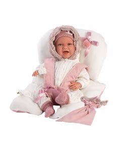 Кукла Llorens Mimi Sonrisas Sillita Rosa 42 см