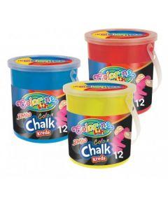 Colorino Kids Jumbo тебешири 12 цвята в кофичка