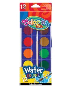 Акварелни бои 12 цв. голяма кутия Colorino Kids