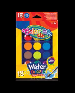 Акварелни бои 18 цвята Colorino