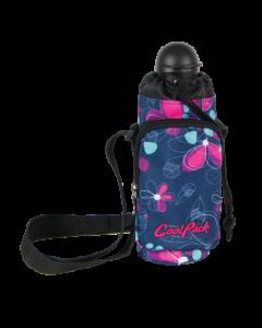 CoolPack чантичка с бутилка Flowers
