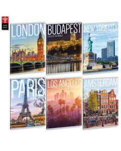 Ученическа тетрадка A4, 40 листа ARS UNA Cities of the world - Различни видове