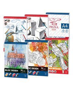 Блок за рисуване A4 160 гр 16 листа, Различни корици
