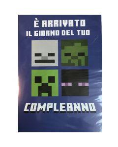 Картичка Minecraft Blue