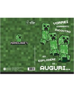 Картичка Minecraft Creeper