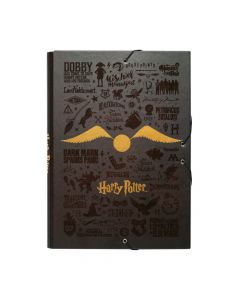 Harry Potter Gold папка с ластици