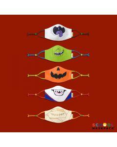 Crayola™ Adults Halloween, маски за лице за тийнейджъри, учители и възрастни, в сет, 5 броя