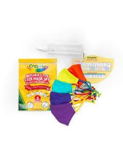 Crayola™ Kids Cool Colors, детски маски за лице в сет, 5 броя