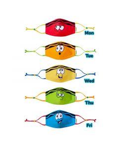 Crayola™ Kids Tip Faces, детски маски за лице в сет, 5 броя