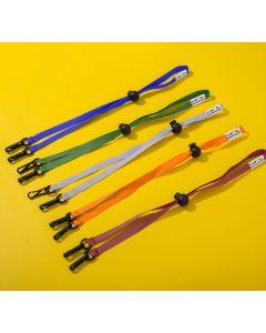 SchoolMaskPack™ Kids, Smart Colors придържащи ленти за детски маски в сет, 5 броя