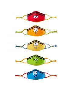 Crayola™ Adults Tip Faces, маски за лице за тийнейджъри, учители и възрастни, в сет, 5 броя