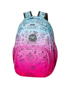 Раница COOLPACK - PICK - PINK SCRIBBLE