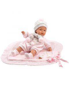 Кукла Llorens Joelle Llorona Toquilla Rosa 38 см