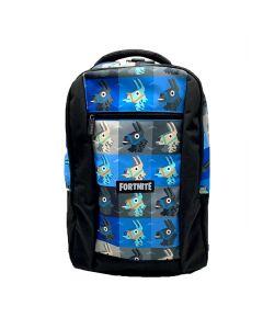 Ученическа раница  FORTNITE лами синя с преден джоб