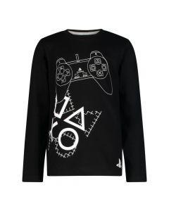 Блуза с дълъг ръкав PlayStation, Черна